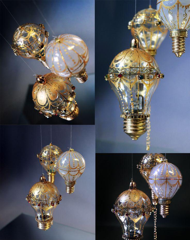 Luftballonger av gamla glödlampor