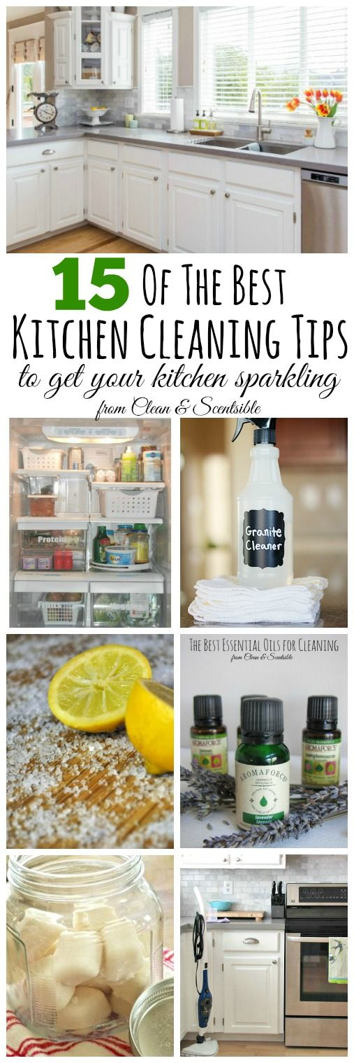 The best cleaning kitchen cleaning tips! Everything you need to get your kitchen sparkling! // cleanandscentsible.com