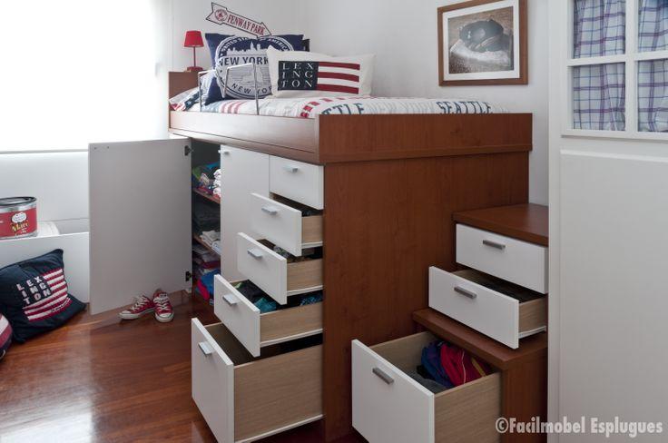 bajo una cama de colchón 190×90 Arcón descalzador ba…  Pinteres
