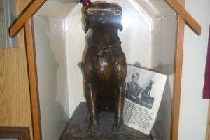 Grave of Sinbad the Dog in Barnegat Light New Jersey