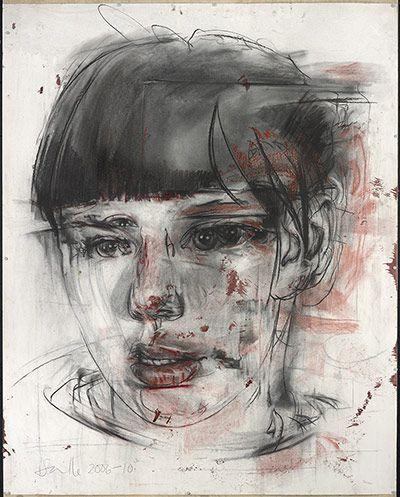 Jenny Saville - Stare (drawing), 2006-2010