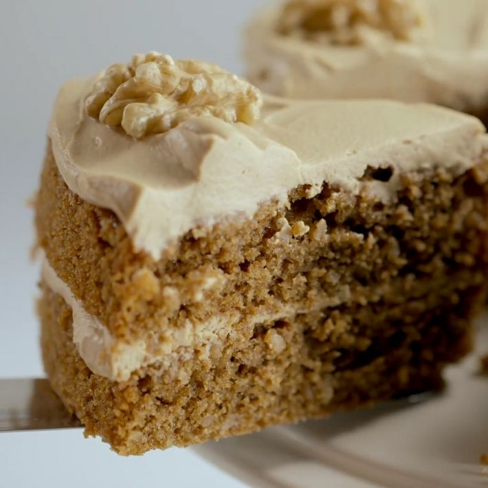 Delia's Coffee and Walnut sponge cake (made for Dad's 70th)