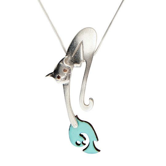 cat jewelry, cat necklace, silver cat, cat jewellery, cat lover, enamel jewelry, cat design jewelry, cat design jewellery
