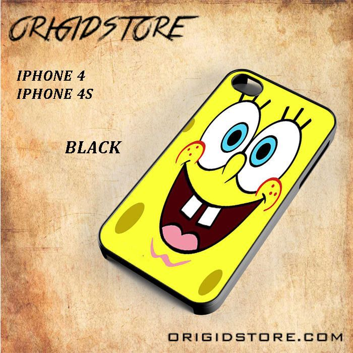 Smile Spongebob For Iphone 4/4S Snap On and 3D Case