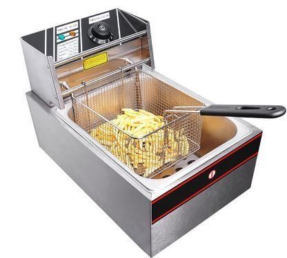 Electric Deep Fryer 6L Commercial Tabletop Stainless Steel French Fry Restaurant *** Continue to the product at the image link.