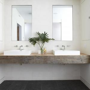 Wood vanity floating vanity and vanities on pinterest