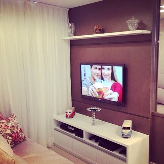 Sala Tv Apartamento ~ sala de tv, apartamento com 50m²  Decoração para apartamento