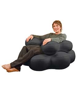 inflatable black bubble chair