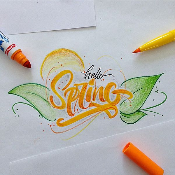 Typographie : Du lettering avec un pinceau