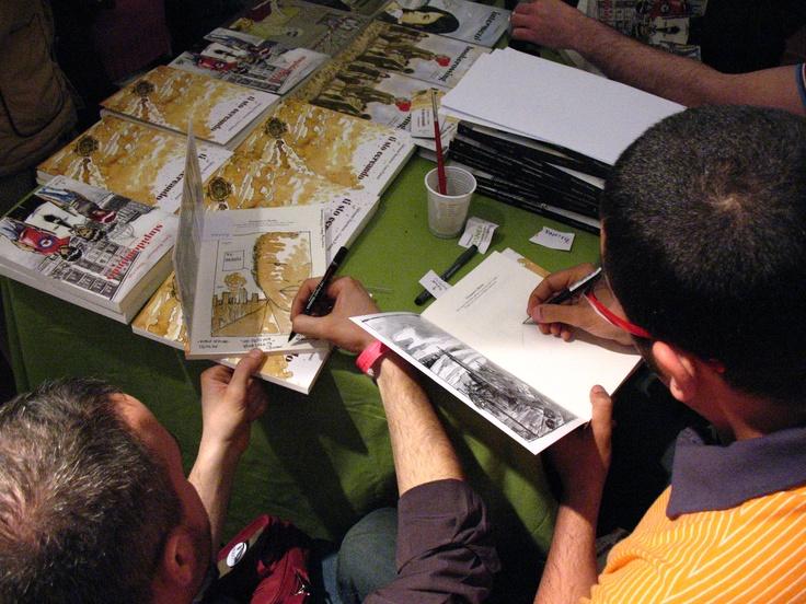 Luca Patanè e Giovanni Marchese dedicano Ti sto cercando a Napoli Comicon 2008