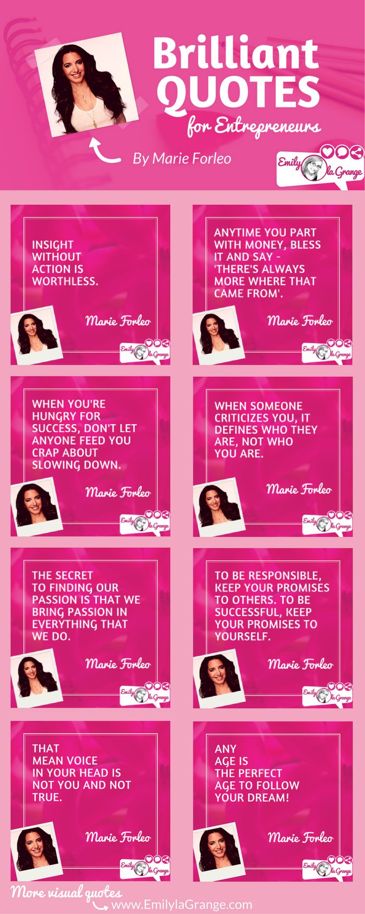 Brilliant quotes for Entrepreneurs by @MarieForleo
