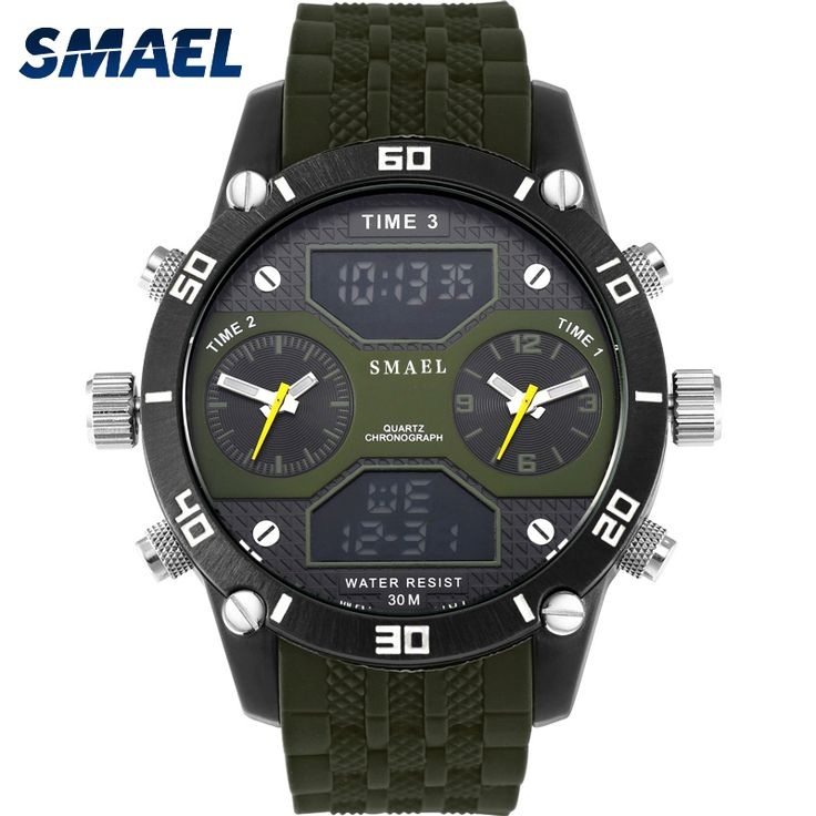 ==> [Free Shipping] Buy Best Mility Army Green Special Fly Degree Scale Men Watch Relogio Masculino Clock Man Uhren Four Analog-Digital Display 1159 Online with LOWEST Price | 32800411380