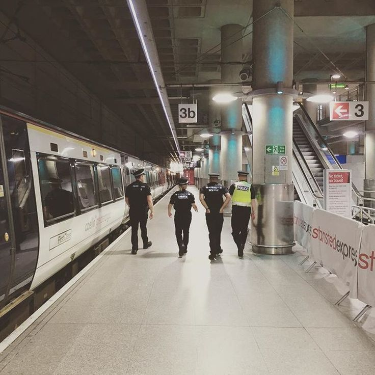 Officers at Stansted Airport were providing high visibility patrols through the terminal building, coach and rail stations today as part of operation desert.
