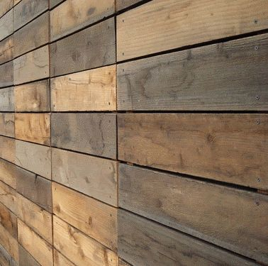 Reclaimed Pallet Wood Siding Recycled Would Look