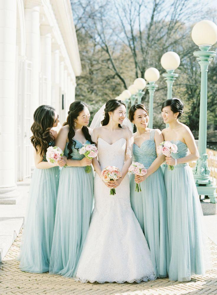 きれいな水色の #ブライズメイドドレス