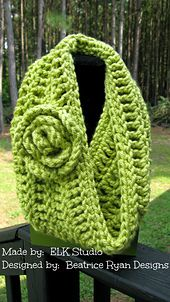 Ravelry: Soft and Stylish Cowl pattern by Beatrice Ryan Designs. Made a similar one, fast and easy. Got lots done for gifting!