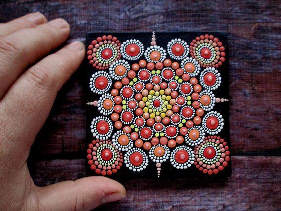 Mandala protector ORIGINAL A técnica única punto por AnnaSmirnova74