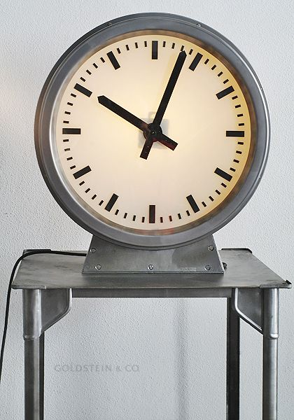 9 best images about curious about clocks on pinterest industrial clock and atelier. Black Bedroom Furniture Sets. Home Design Ideas