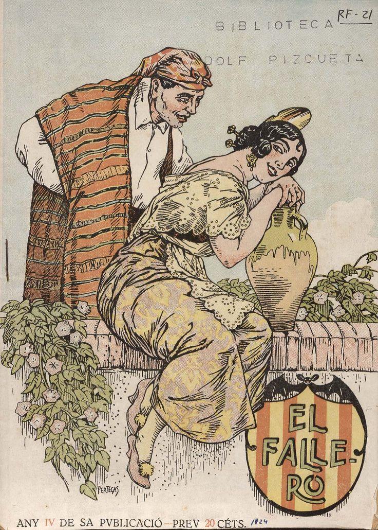 Cubierta de la revista El fallero,  nº 4, año 1924