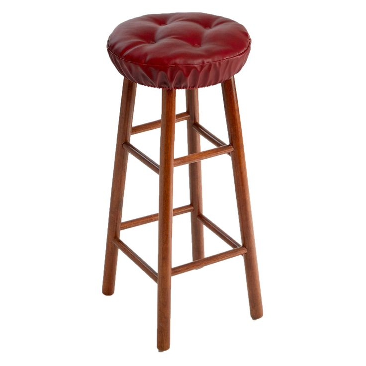 Klear Vu Gripper Faux Leather Tufted Bar Stool Cushion - Set of 2 - 14371-19A