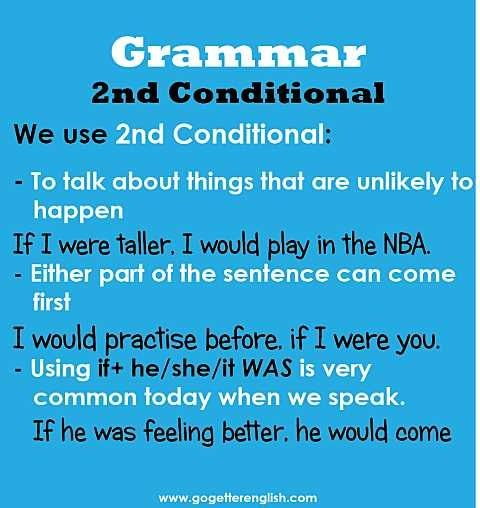 English - 2nd conditional