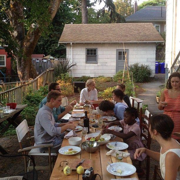 a proper welcome to Portland for @carissajg @andrewgallo. @kinfolkmag instagram: Casual Backyard, Instagram Web, Friends, Enjoy Vans, Shared Instagram, Dinners, Kinfolkmag Instagram, Backyard Entertainment, Instagram Photo
