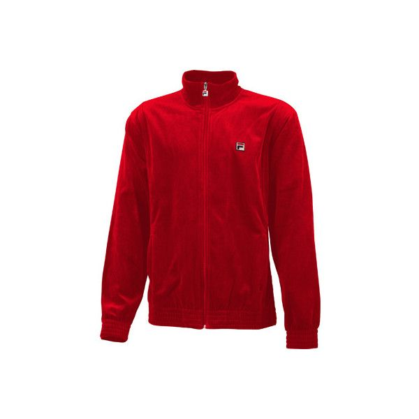 Men's Fila Solid Velour Jacket - Chinese Red Track Jackets ($80) ❤ liked on Polyvore featuring men's fashion, men's clothing, men's activewear, men's activewear jackets, red, mens activewear, mens track jackets and mens track tops
