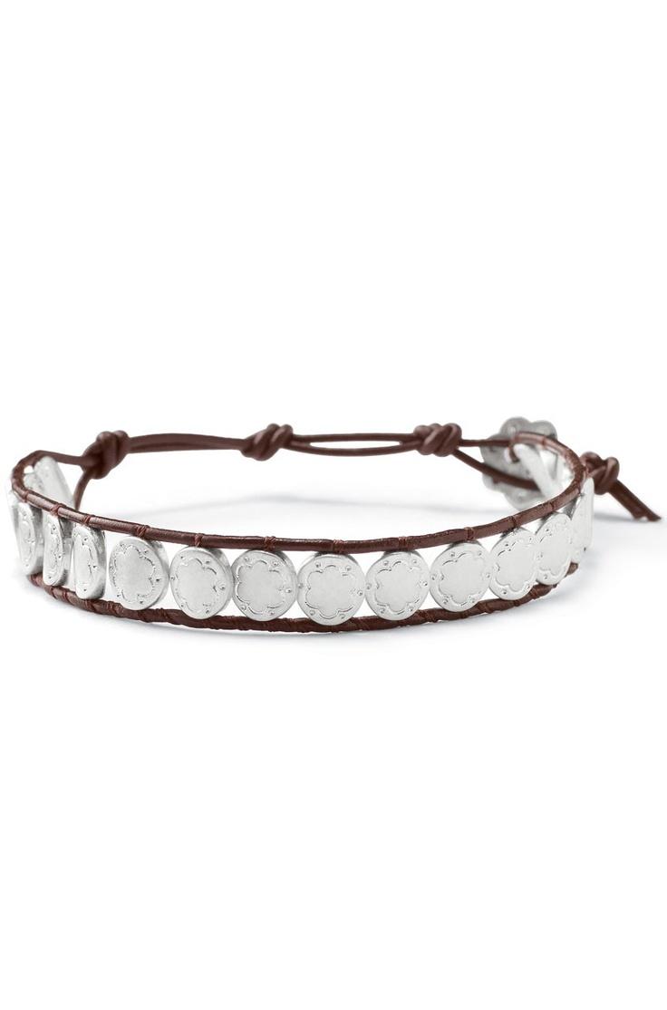 Signature Scallop & Leather Bracelet