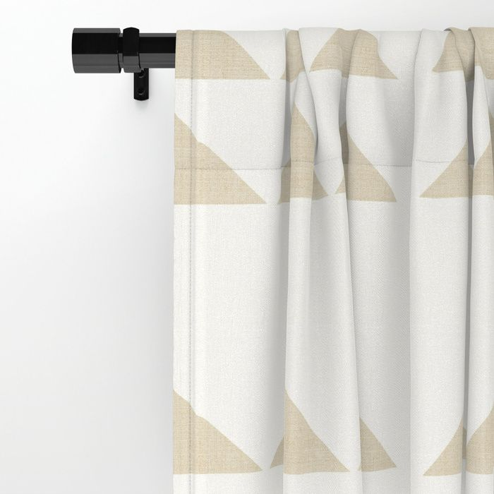 Tribal Triangles In Tan Window Curtains Curtains Curtain Patterns Tan Curtains