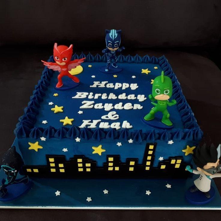 Happy Birthday to brothers Zayden and Hugh! Both who love PJ Masks Enjoy your matching cupcakes! #welovecakeandi #cake #celebration #birthdaycake #birthday #pjmaskscake #pjmasks #pjmasksparty #brothets #romeo #gekko #catboy #owlette #nightninja #masks #heros #characters #cartoon #wollongongcakes #illawarracakes #igcakes #instacakes #cupcakes friends #superhero #superheroes #friends