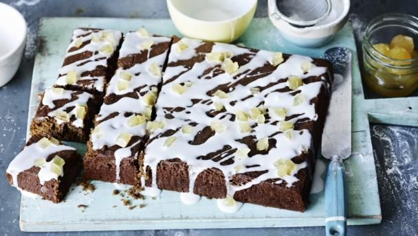 Make this traybake in advance and you can freeze it before adding the icing - in fact freezing improves the taste.