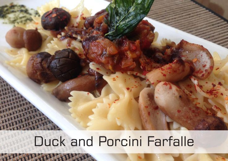 Duck and Porcini Farfalle