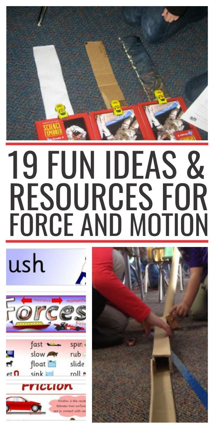 19 Fun Ideas & Resources for Force and Motion - texture, gravity, incline and some simple machines.
