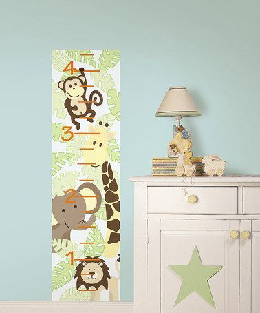 Take a look at this Jungle Friends Baby Growth Chart Decal by WallPops! on #zulily today! $13.99