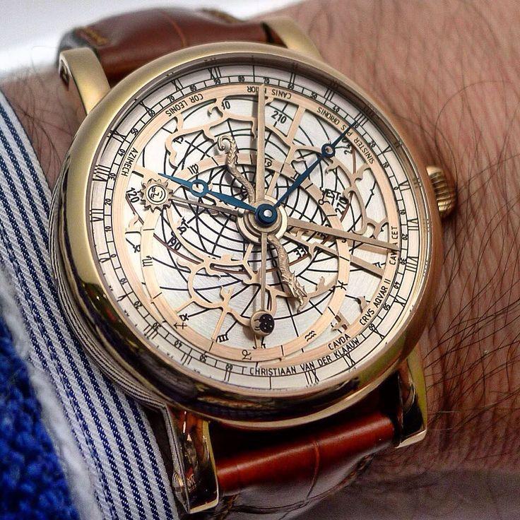 Superb astronomical watch by Christiaan Van Der Klaauw.