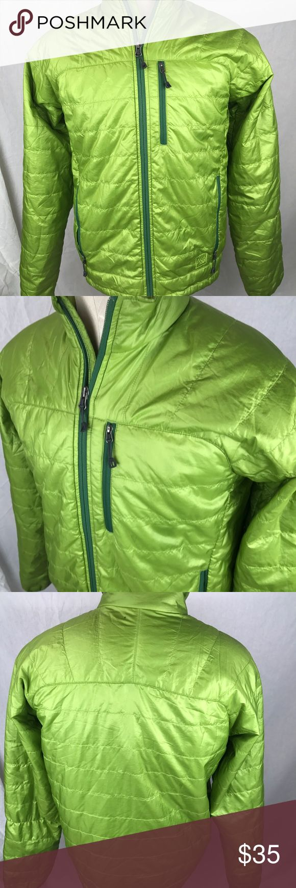 "REI Puffer Jacket Mens Size Small Pertex Quantum REI Men's  Coat/Jacket Small Green Pertex Quantum GCO Puffer Lightweight Toggle Waist Gently Used Condition  Chest:  21"" Length:  25""   k REI Jackets & Coats Performance Jackets"