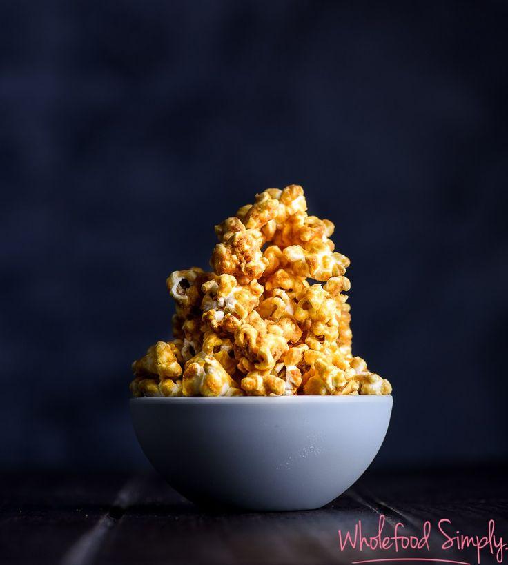 Salted Caramel Peanut Butter Popcorn