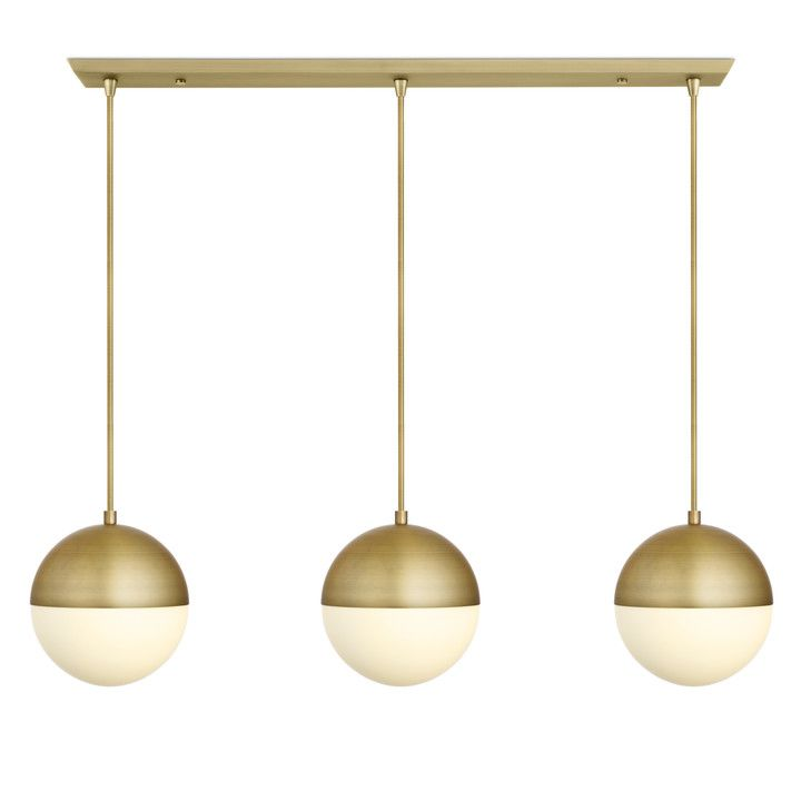 The Powell 3-light rectangular canopy is a contemporary spin on a mid-century classic. Features three frosted glass globes capped with a spun-metal hoods ...  sc 1 st  Pinterest & 3 Powell LED 10