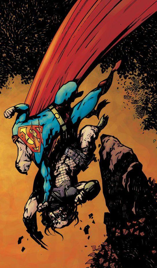 Superman vs Predator by Alex Maleev