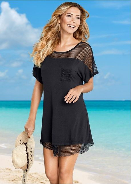 eb35296659 Mesh trimmed cover-up dress in 2019 | Summertime! | Bathing suit ...