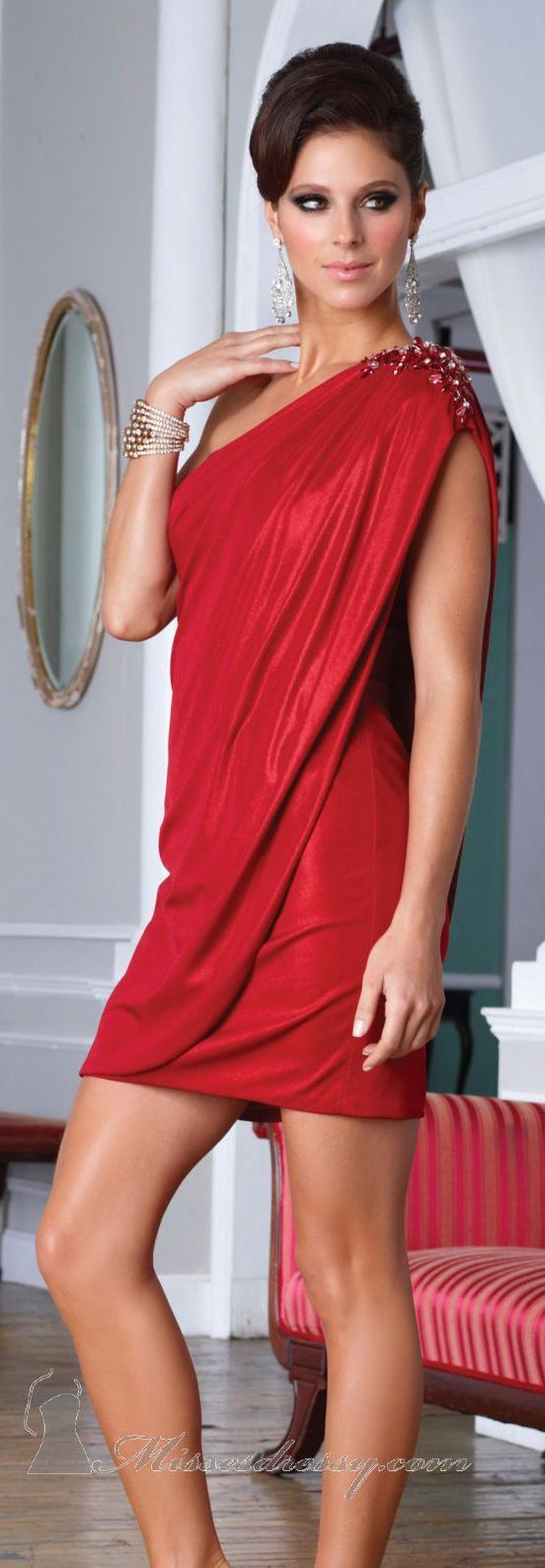 Because every woman needs a Sexy Red Dress, this one just happens to be classy too :)