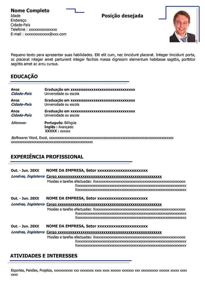 Modelo De Curriculo Para Preencher Baixar Curriculum Vitae Baixar Modelo De Curriculo Modelo De Curriculo Modelo De Curriculo Atualizado