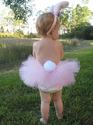 Little Bunny Tutu and matching Bunny Ears - adorable Easter outfit!