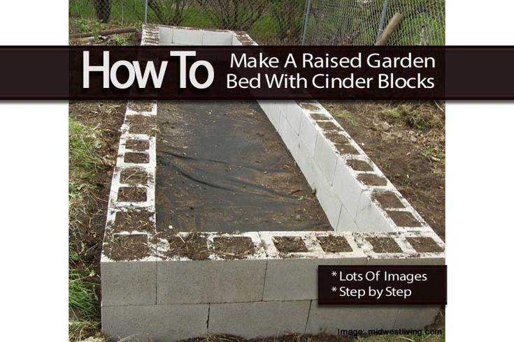 Make A Raised Garden Bed With Cinder Blocks Cinder