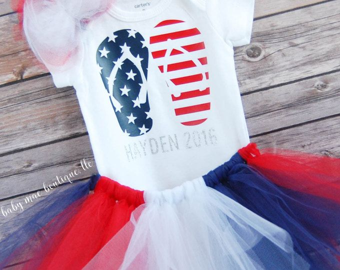 my first 4th of july baby clothes