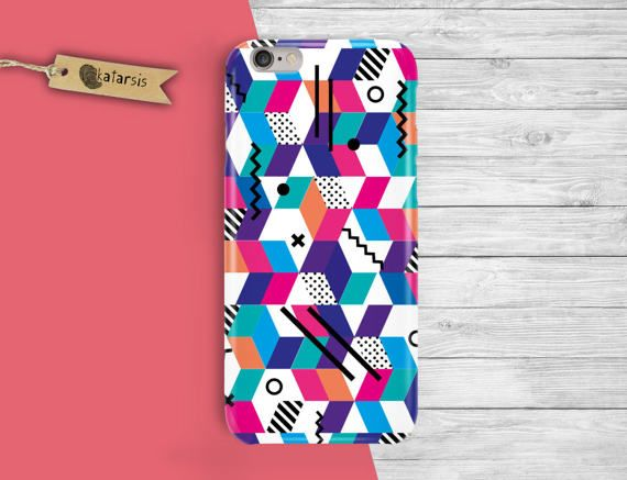 Colorful Geometric iPhone 7 Case iPhone 6 Case by KatarsisFactory