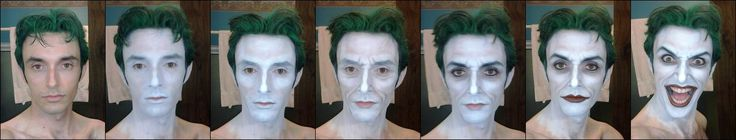 The make-up progression of that amazing Joker cos play from comic-con. Incredible talent!!