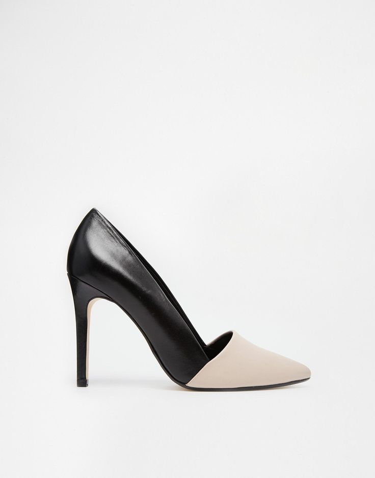 Dune Analise Di Blush Toe Heeled Court Shoes