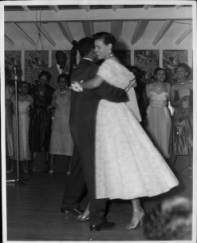 Edythe Carr dancing with a man at the Club Alabam Social Club :: Dunbar Economic Development Corporation Collection, 1880-1986