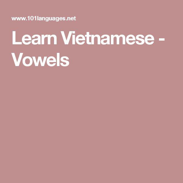 Learn Vietnamese - Vowels